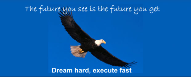 Dream hard, Execute fast